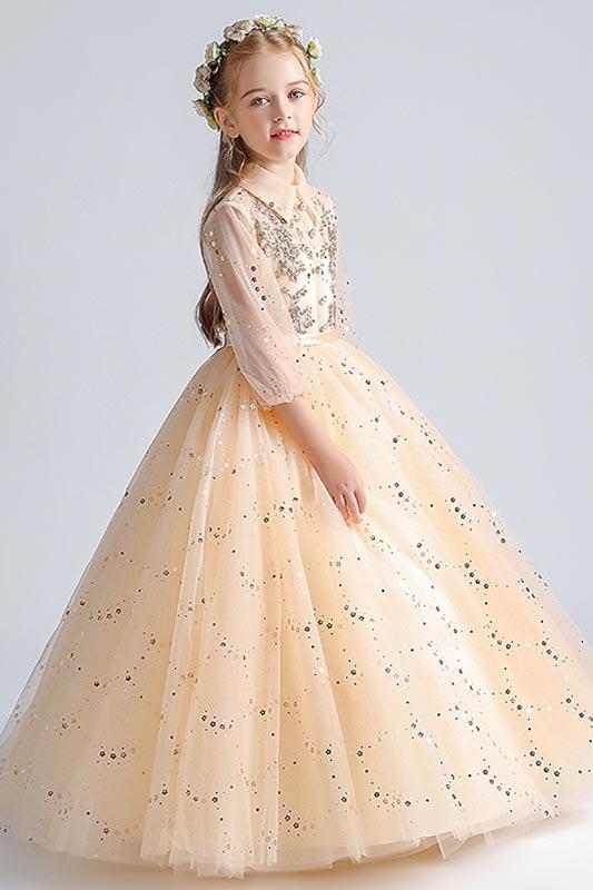 eDressit Lovely Beige Lace Tulle Wedding Flower Girl Dress (27211414)