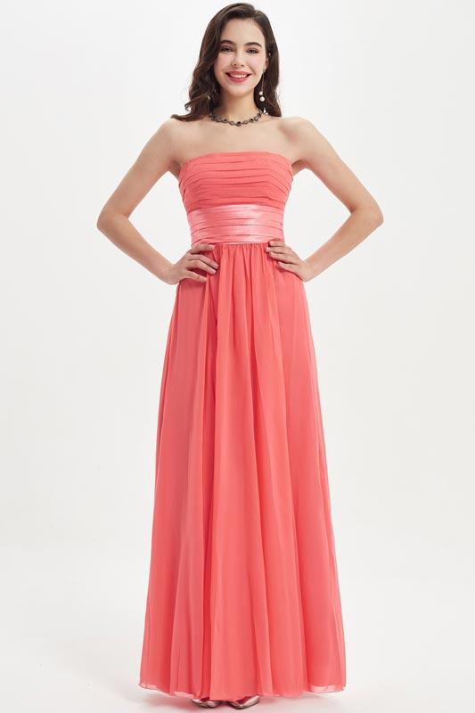 eDressit Coral Corset Strapless Wedding Bridesmaid Dress (07210357)