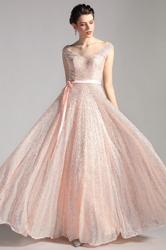 eDressit Sexy V-Cut Sequins A Line Party Ball Evening Dress (07200410)