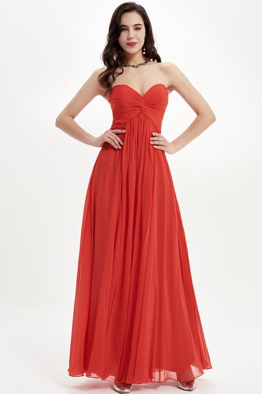 eDressit Red Strapless Sweetheart Bridesmaid Dress Evening Dress (07210402)