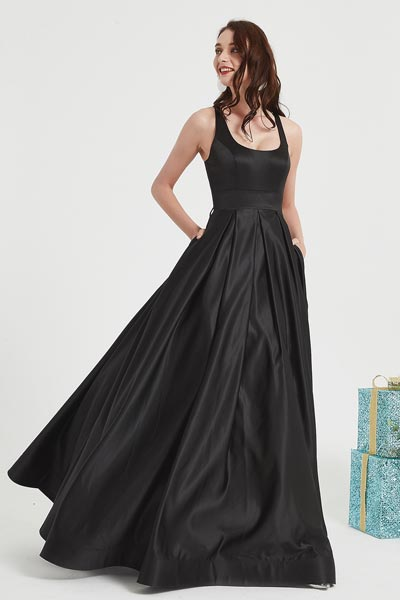 eDressit Black Square Collar Puffy Skirt Party Ball Dress (02201200)