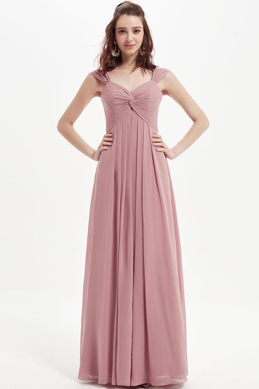 eDressit Dusty Rose V-Cut Straps Wedding Bridesmaid Dress (07215101)