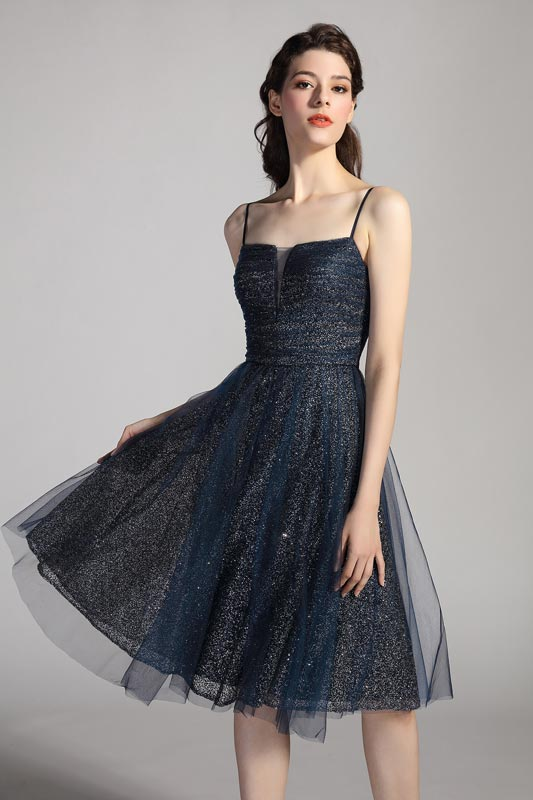 eDressit Spaghetti Shiny Blue Party Cocktail Evening Dress (04201005)