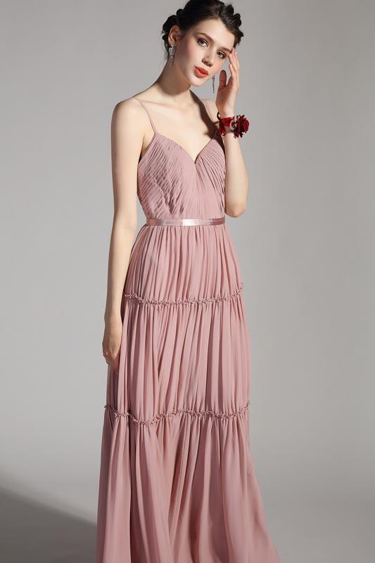 eDressit Sexy Spaghetti V-Cut Pleated Long Party Evening Dress (00206046)