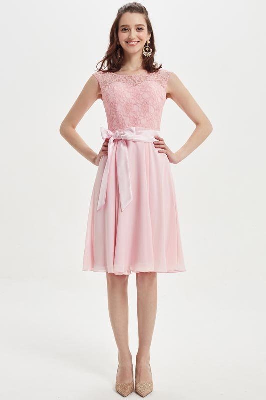 eDressit Lovely Baby Pink Lace Cocktail Bridesmaid Dress (07217901)