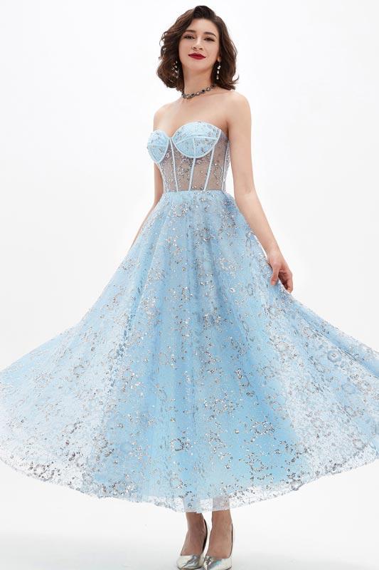 eDressit Shiny Blue Corset Polyester Bone Tulle Party Ball Dress (04210232)