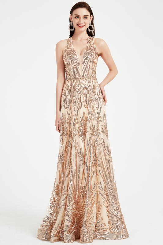 eDressit New Shiny Halter Beaded Gorgeous Party Gown (02202924)