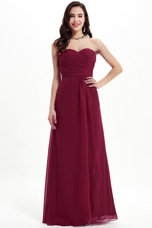eDressit Burgundy Strapless Sweetheart Party Bridesmaid Dress (07210917)