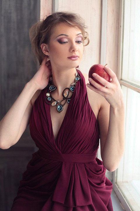 V cut High Split Evening dress
