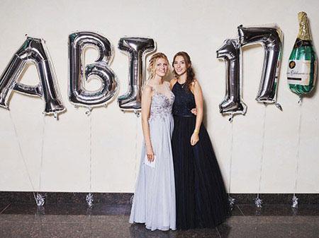 Long A-line Grey Prom Dress