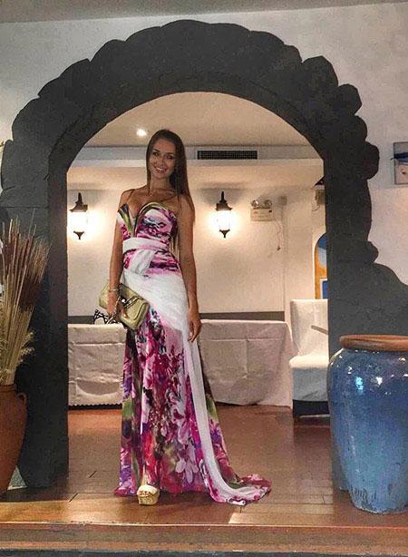 Printed Prom Dress, Long Prom Dress