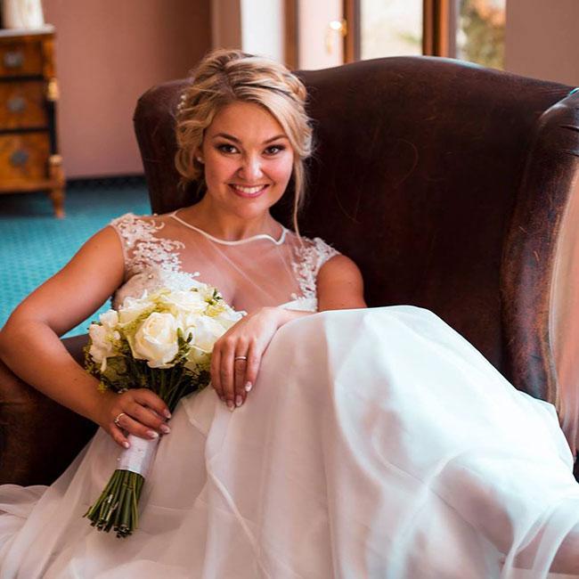 Illusion Prom Wedding Dress, Beach Wedding Gown