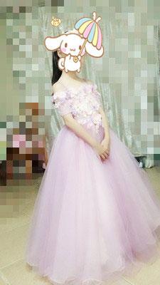 High Quality Lavender Wedding Flower Girl Dress