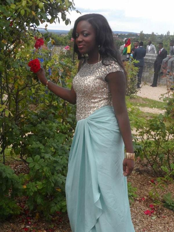 Fashion Blue Prom Dress Cap Sleeves