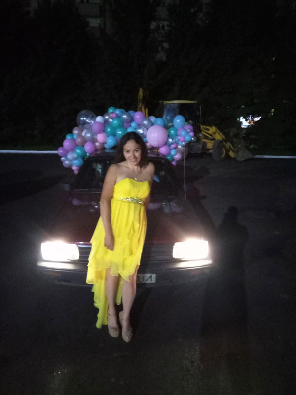 Strapless Yellow Cocktail Dress
