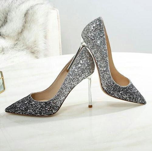 Sparkling Sequin High Heel Shoes