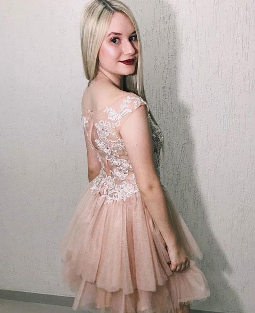 Sleeveless Cocktail Dress, Short Prom Dress for Wedding