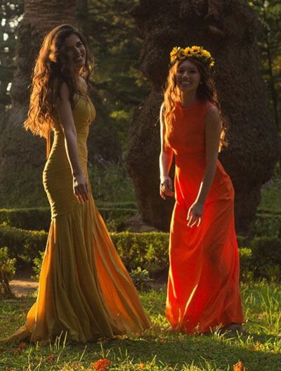 Yellow Prom Dress, Yellow Evening Dress