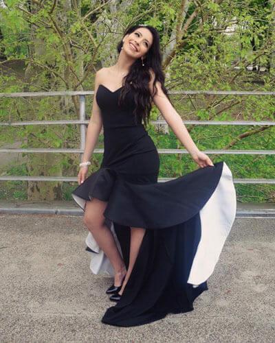 Sleeveless Black Prom Dress Formal Dress