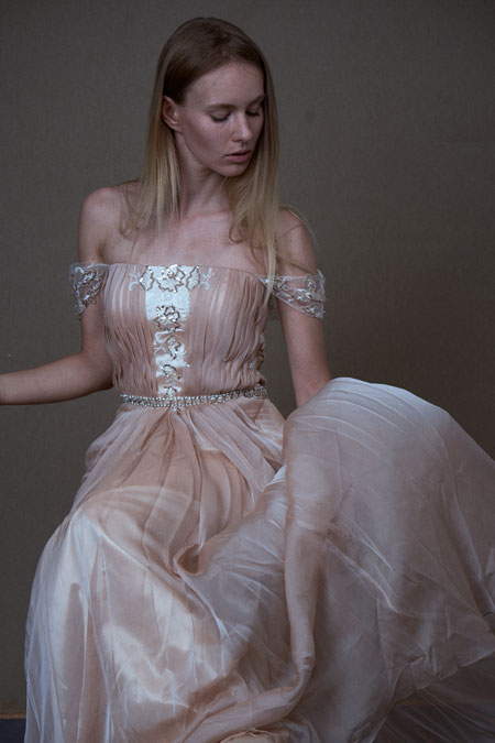 Off the Shoulder Pink Dress A-line for Wedding and Prom