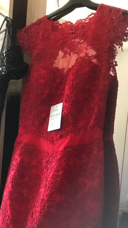 Cap Sleeves Round Neck Burgundy Lace Mother of the Bride Dress