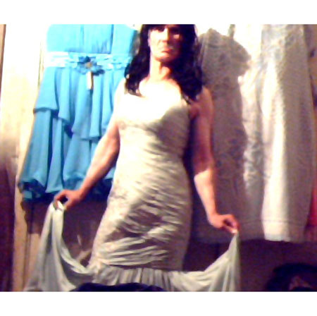 Sleeveless Strapless Beige Prom Gown