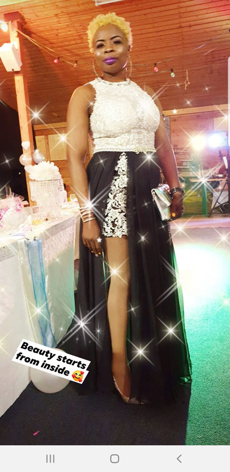 Sleeveless Slit Prom Dress With White Top and Black Skirt