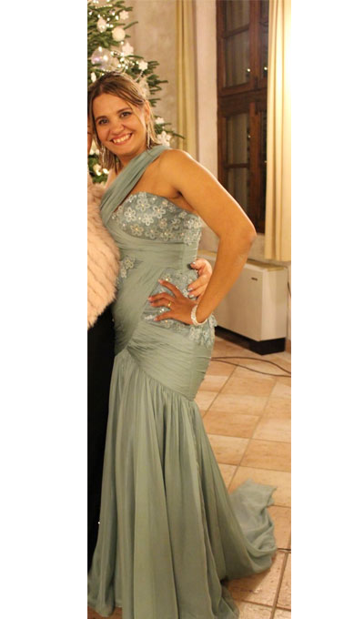One Shoulder Mermaid Green Prom Dress
