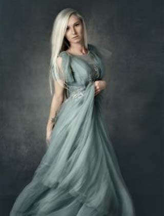 eDressit Sexy Blue V-Cut Sheer Lace Tulle party Dress