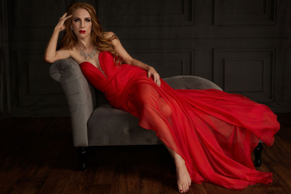Stylish Ruched bodice Red Evening Dress